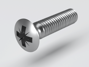 Raised Countersunk Machine Screw to DIN 966 Z (H) ISO 7047 Z (H)