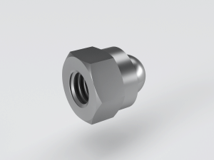 Hexagon domed nylon insert nut suppliers to DIN 986