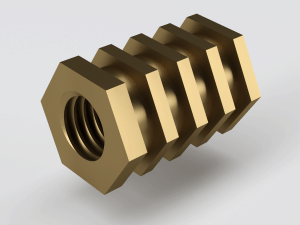 Hex Tapped Brass Insert