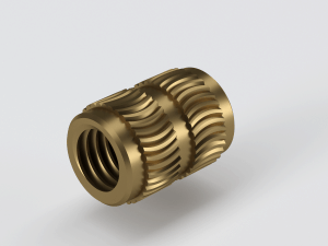 Brass insert for polycarbonate