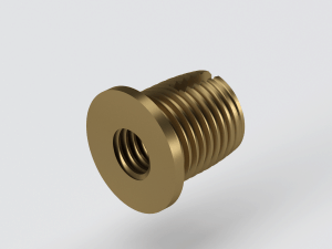 Self tapping brass insert distributor