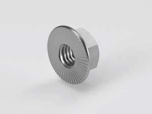 Hexagon Nut with plain / serrated flange